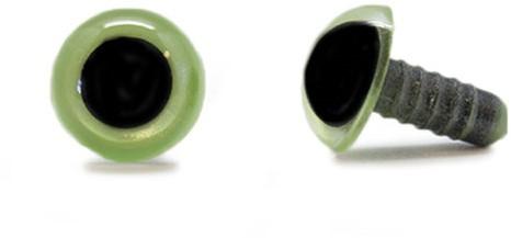 Sicherheitsaugen Olivgrün 12mm pro Paar