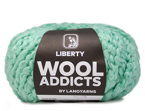 Wooladdicts Fuzzy Feeling Pullover Strickpaket 6 L Mint