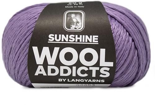 Wooladdicts Perfect Puzzle T-Shirt Häkelpaket 2 XL Lilac