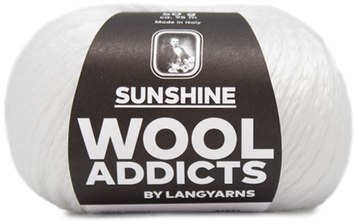 Wooladdicts Crazy Cables Pullover Strickpaket 1 M White
