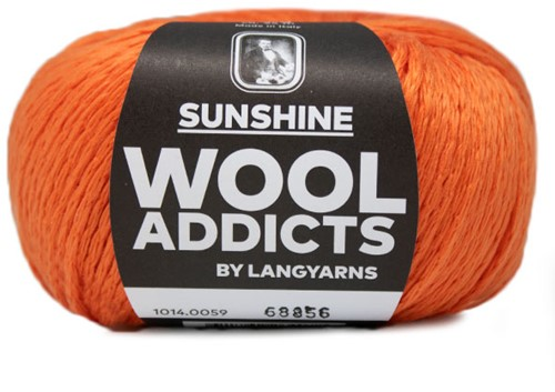 Wooladdicts Crazy Cables Pullover Strickpaket 7 L Orange