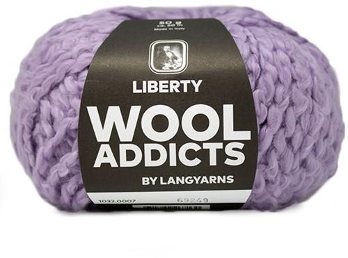 Wooladdicts Kind Knitter Dreieckstuch Strickpaket 2 Lilac