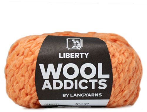 Wooladdicts Kind Knitter Dreieckstuch Strickpaket 7 Orange