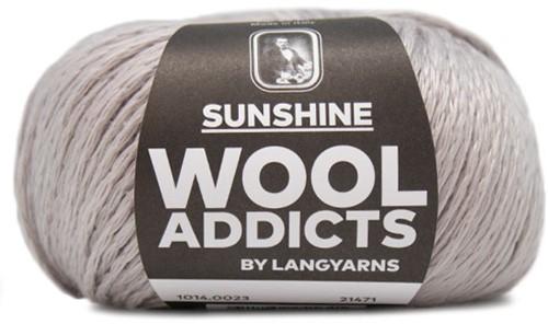 Wooladdicts Simply Shine Strickjacke Strickpaket 3 L/XL Silver