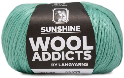 Wooladdicts Simply Shine Strickjacke Strickpaket 6 L/XL Mint
