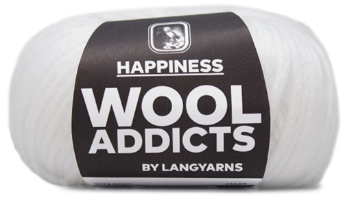 Wooladdicts Happy Habit Strickjacke Strickpaket 1 L White