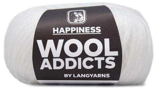 Wooladdicts Happy Habit Strickjacke Strickpaket 1 M White