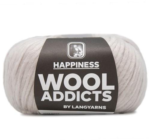 Wooladdicts Happy Habit Strickjacke Strickpaket 3 M Silver