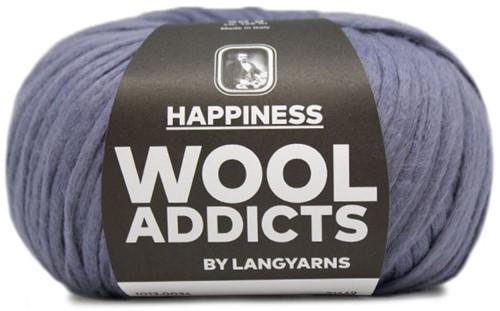 Wooladdicts Happy Habit Strickjacke Strickpaket 4 L Jeans