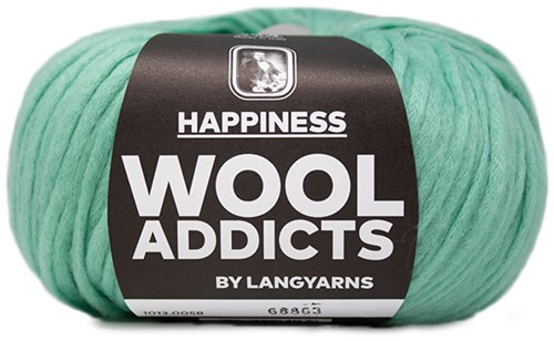Wooladdicts Happy Habit Strickjacke Strickpaket 6 S Mint