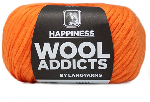 Wooladdicts Happy Habit Strickjacke Strickpaket 7 L Orange
