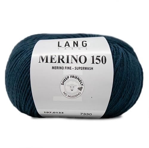 Lang Yarns Merino 150 133 Steel Blue