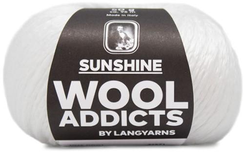 Wooladdicts Peach Puff Strickjacke Strickpaket 1 White