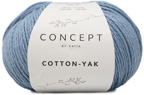 Cotton Yak Mädchenpullover Strickpaket 1 12 Jahre Light Blue
