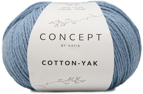 Cotton Yak Mädchenpullover Strickpaket 1 10 Jahre Light Blue