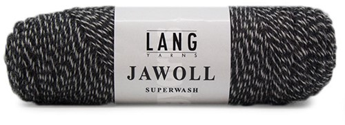 Lang Yarns Jawoll Superwash 137 Anthracite/Ecru Mouliné