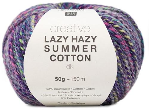 Lazy Hazy Summer Cotton Jacke Strickpaket 1 36/38 Purple