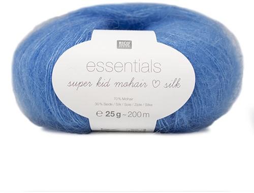 Essentials Super Kid Mohair Loves Silk Jacke Strickpaket 2 42/46 Azur
