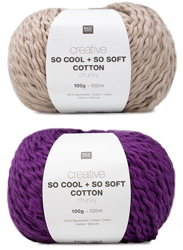 Creative So Cool + So Soft Streifenpullover Strickpaket 1 36/38 Powder/Lila