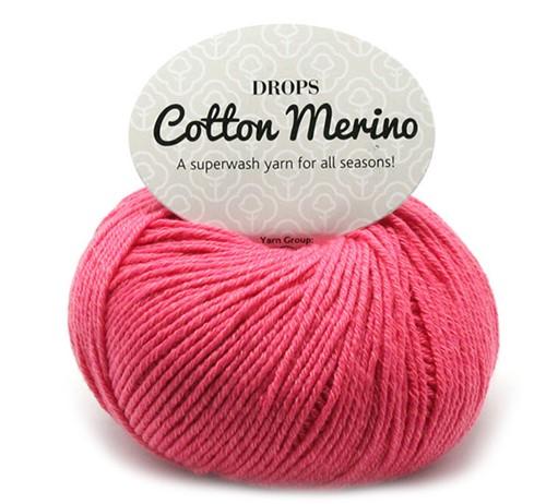 Drops Cotton Merino Uni Colour 13 Koralle