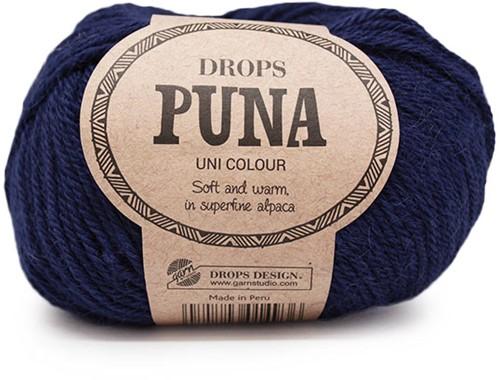 Drops Puna Uni Colour 13 Marineblau