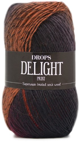 Drops Delight 13 Red-orange-grey