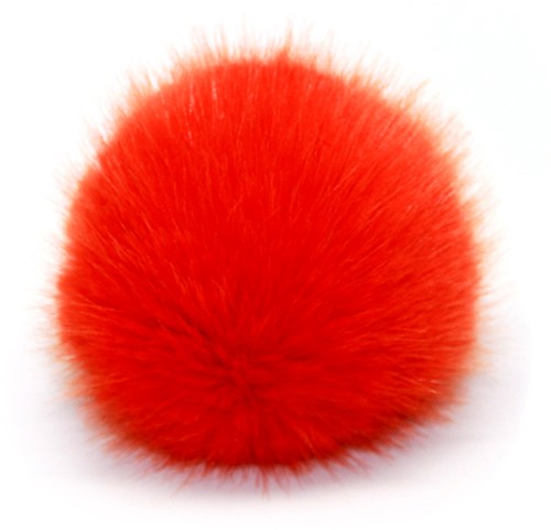 Rico Kunstfell Pompon Large 14 Orange