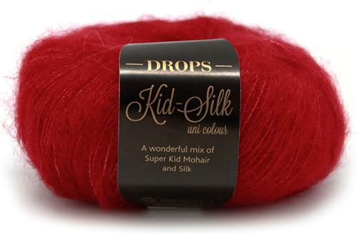 Drops Kid-Silk Uni Colour 14 Red