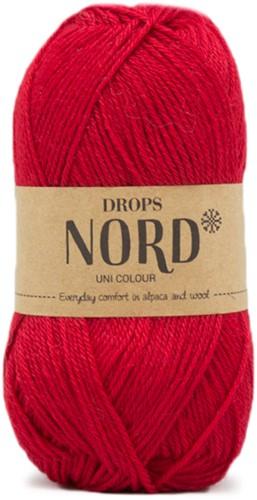 Drops Nord Uni Colour 14 Red