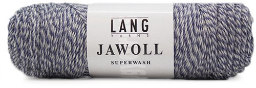 Lang Yarns Jawoll Superwash 151 Blue/Light Grey Mouliné