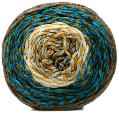 Katia Twisted Paint 152 Brown / Blue