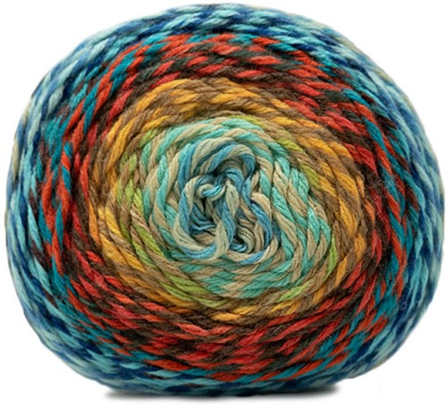 Katia Twisted Paint 156 Blue / Red / Yellow
