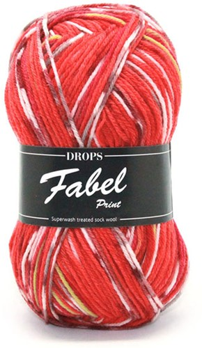 Drops Fabel Print 159 Red Chili
