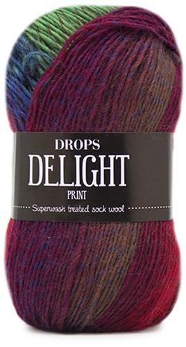 Drops Delight 15 Turquoise-burgundy-beige