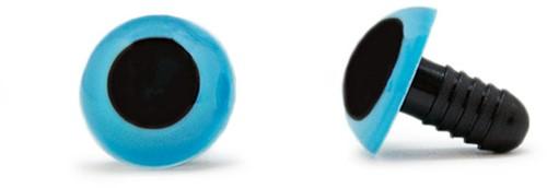 Sicherheitsaugen Blau 15mm 2 Stück