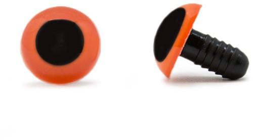Sicherheitsaugen Orange 15mm 2 Stück