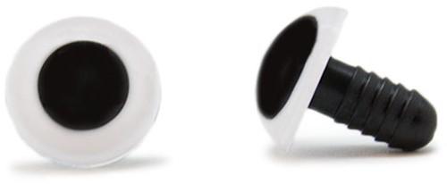 Sicherheitsaugen Weiß 15mm 2 Stück