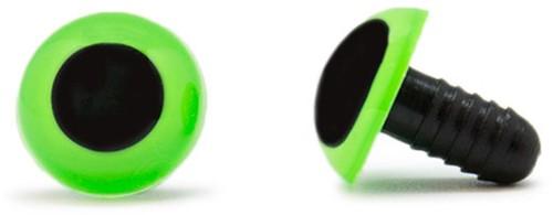Sicherheitsaugen Grün 15mm 2 Stück