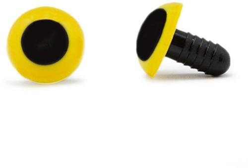 Sicherheitsaugen Gelb 15mm 2 Stück