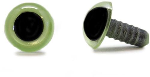 Sicherheitsaugen Olivgrün 15mm pro Paar