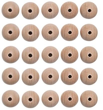Holzperlenset 25 Stück  15 mm