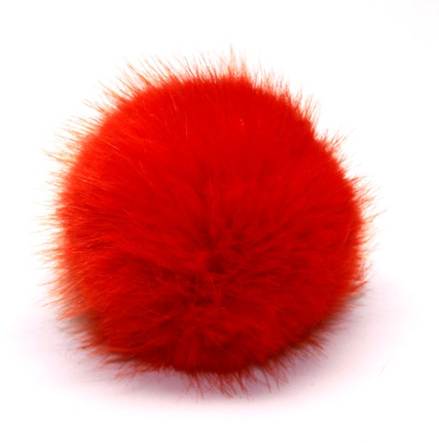 Rico Kunstfell Pompon Medium 16 Red