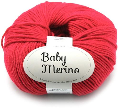 Drops Baby Merino Uni Colour 16 Rot