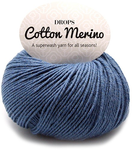 Drops Cotton Merino Uni Colour 16 Jeansblau