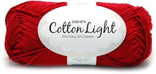 Drops Cotton Light Uni Colour 17 Dark-red