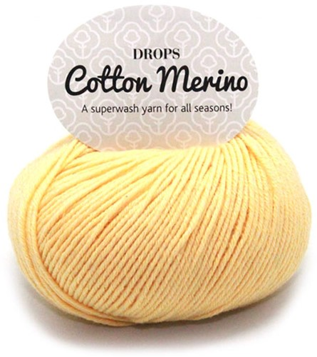 Drops Cotton Merino Uni Colour 17 Vanille