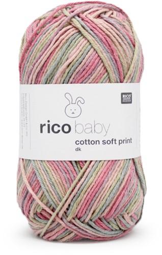 Rico Baby Cotton Soft Print dk 17 Teal-Pink