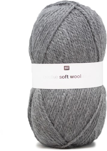 Rico Creative Soft Wool Aran 17 Grey