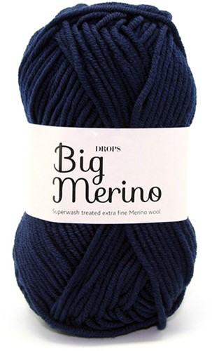 Drops Big Merino Uni Colour 17 Navy-blue