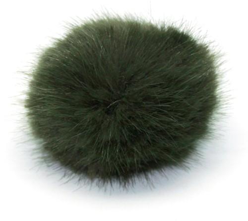 Rico Kunstfell Pompon Medium 18 Olive